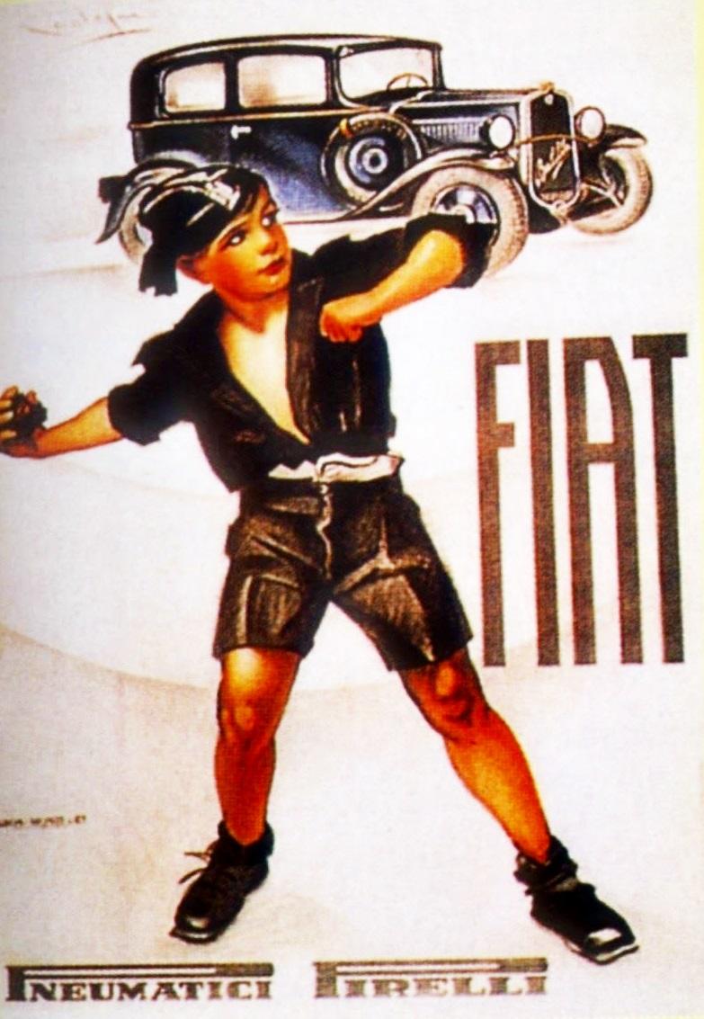 Cartoline dal Ventennio  1932 Nasce la Fiat Balilla