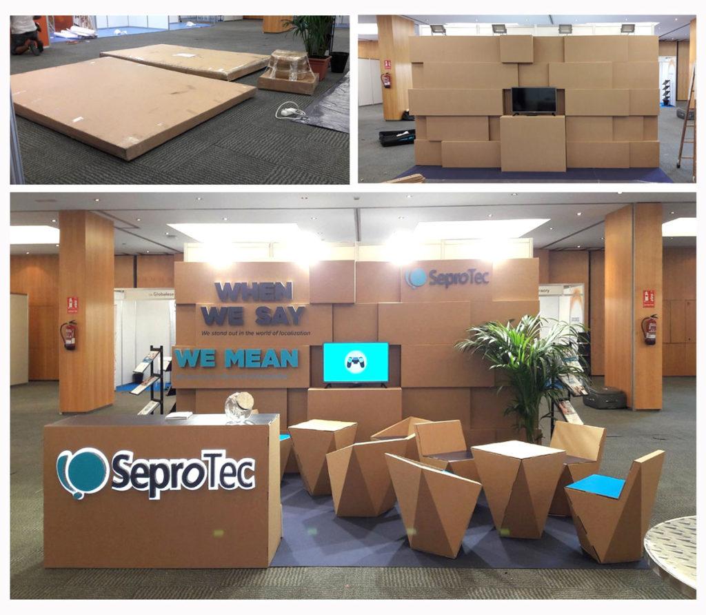 Stand para SeproTec en el Congreso LocWorld 34 Barcelona