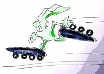 Osterhase Sport Cartoon