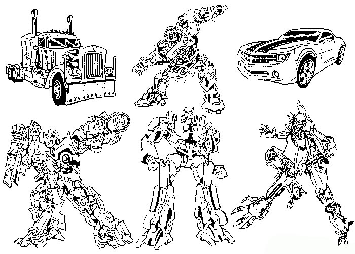 Transformers Coloring Pages - GetColoringPages.com | 500x700