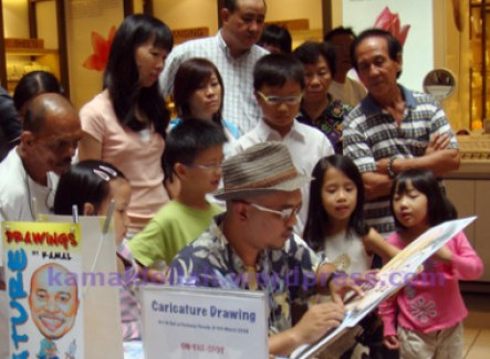 Caricaturists always attract crowd