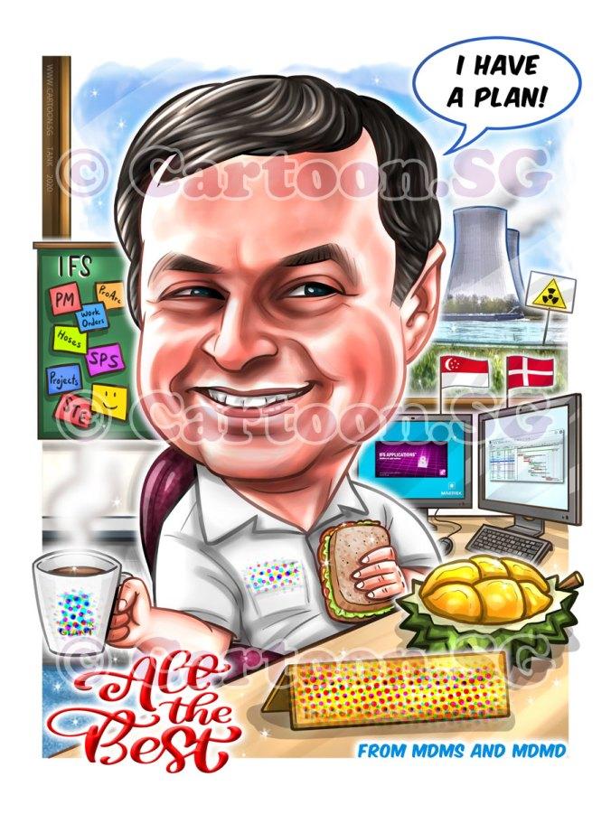 20200205-Caricature-Singapore-digital-danish-denmark-maersk-office-durian