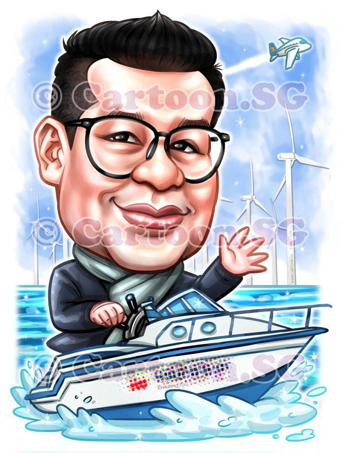 Huntsman Farewell Sea Boat Cartoon