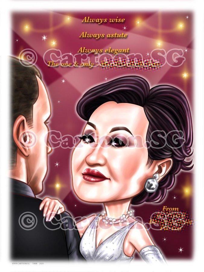 mugshot caricature dance cartoon sketch ballroom dance