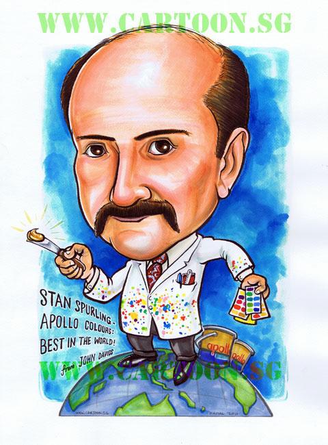 Scientist who paints caricature