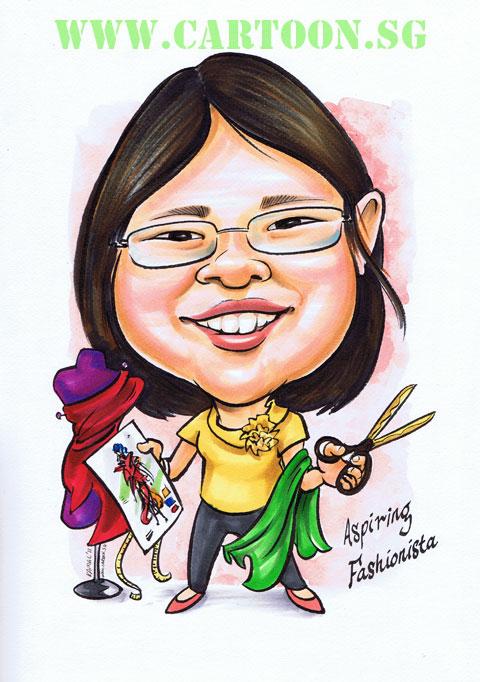 Chirixtmas gift to daughter with fashion illustrator