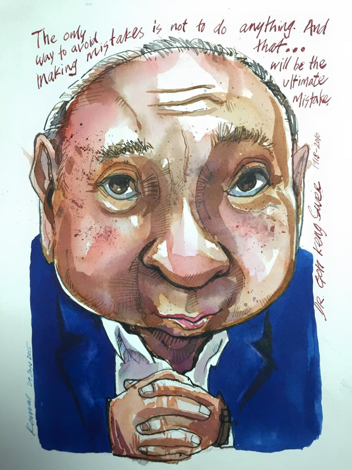 Caricature art of famous people