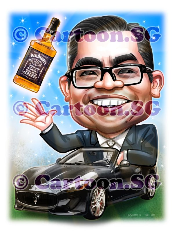 Caricature gift for farewell celebration