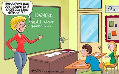 Funny Back to School Cartoon ❤ Cartoon Cartoon A Day