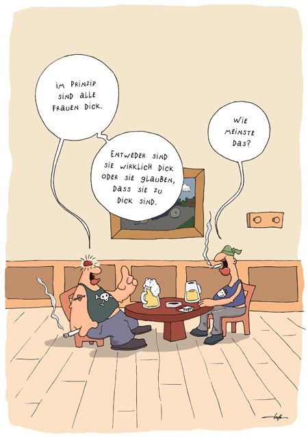 Thomas Luft, Cartoon, Lustig, Fett