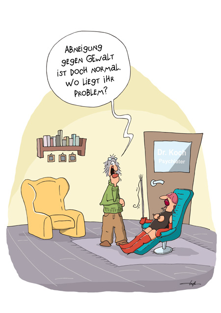 Thomas Luft, Cartoon, Lustig, Gewaltproblem