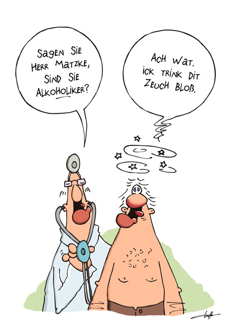 Thomas Luft, Cartoon, Lustig, Alkoholiker