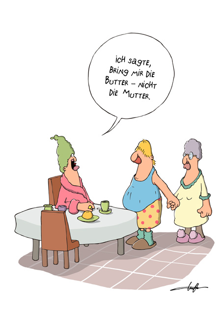 Thomas Luft, Cartoon, Lustig, Butter