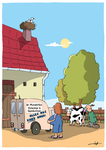 Thomas Luft, Cartoon, Lustig, Arzt