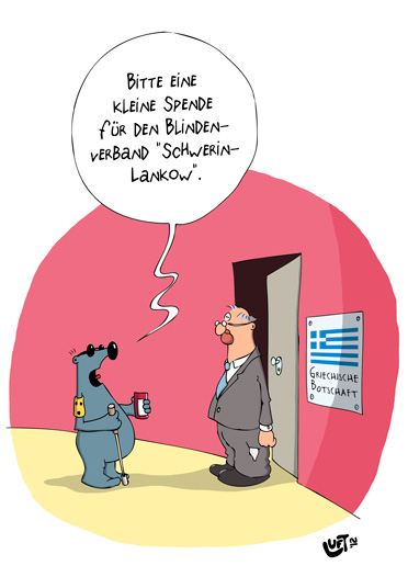 Thomas Luft, Cartoon, Lustig, Spende