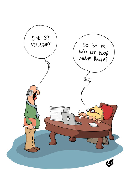 Thomas Luft, Cartoon, Lustig, Verleger