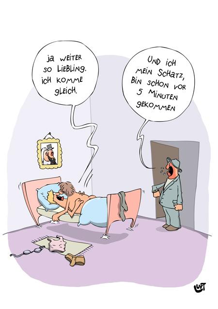 Thomas Luft, Cartoon, Lustig, Erwischt