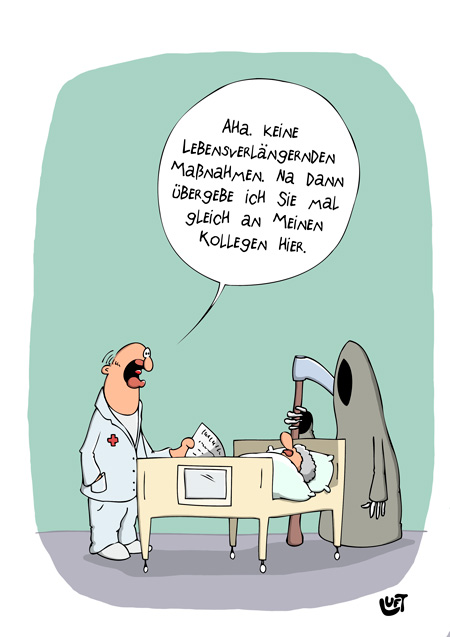 Thomas Luft, Cartoon, Lustig, Übergabe