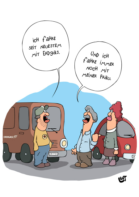 Thomas Luft, Cartoon, Lustig, Erdgas