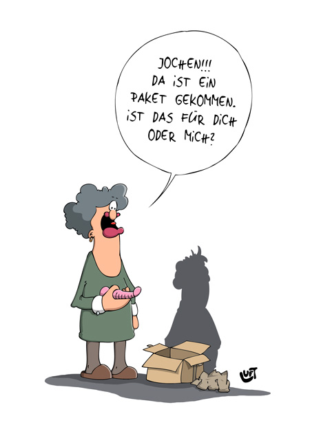 Thomas Luft, Cartoon, Lustig, Paket