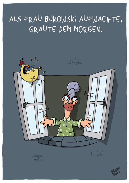 Thomas Luft, Cartoon, Lustig, Morgengrauen