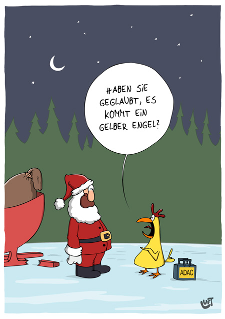 Thomas Luft, Cartoon, Lustig, Gelbe Engel