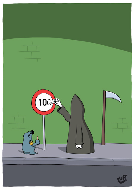 Thomas Luft, Cartoon, Lustig, 100
