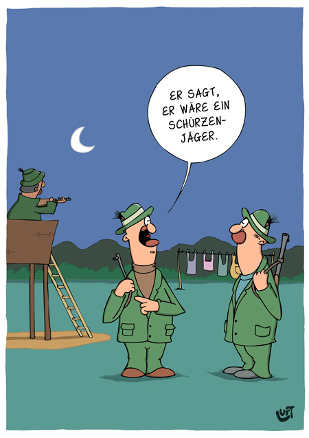 Thomas Luft, Cartoon, Lustig,  Jäger