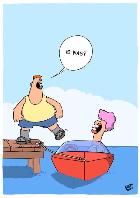 Thomas Luft, Cartoon, Lustig, Dick