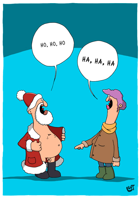 Thomas Luft, Cartoon, Lustig, Weihnachtsmann