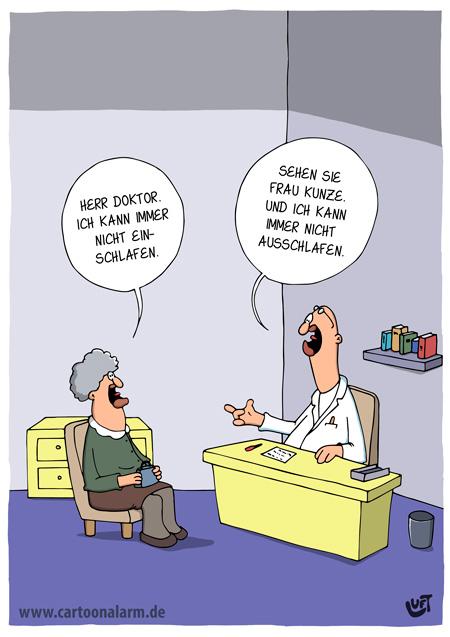 Thomas Luft, Cartoon, Lustig, Einschlafen, Ausschlafen