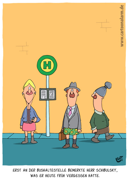 Thomas Luft, Cartoon, Lustig, Hose