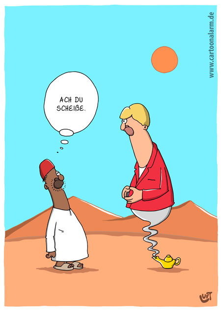 Thomas Luft, Cartoon, lustig, Wunderlampe