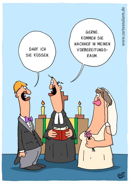 Thomas Luft, Cartoon, Trauung