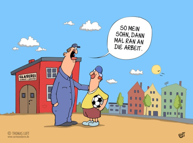 Thomas Luft, Cartoon, lustig, Arbeit