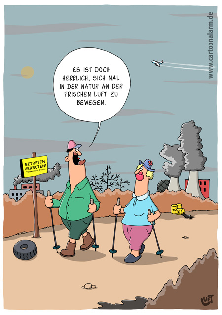 Thomas Luft, Cartoon, lustig, Natur