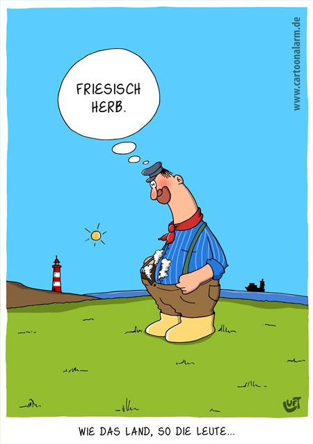 Thomas Luft, Cartoon, lustig, Friesisch heeb
