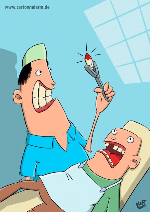 Thomas Luft, Cartoon, lustig, Zahn