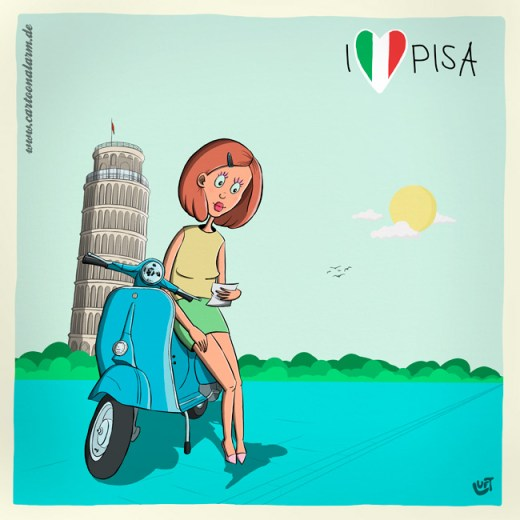 Thomas Luft, Illustration, lustig, Pisa