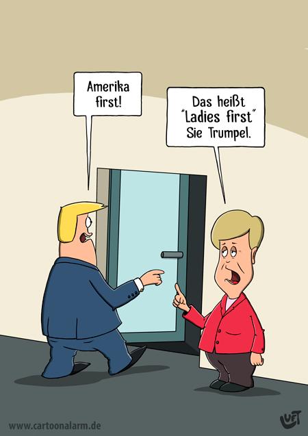 Thomas Luft, Cartoon, lustig, Trump