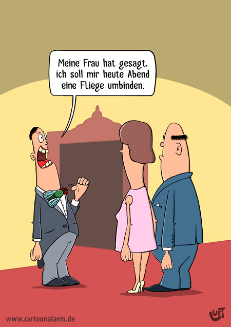 Thomas Luft, Cartoon, lustig, Fliege
