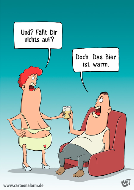 Thomas Luft, Cartoon, lustig, Bier