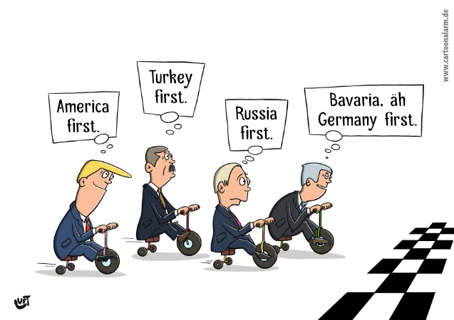 Thomas Luft, Cartoon, lustig, First