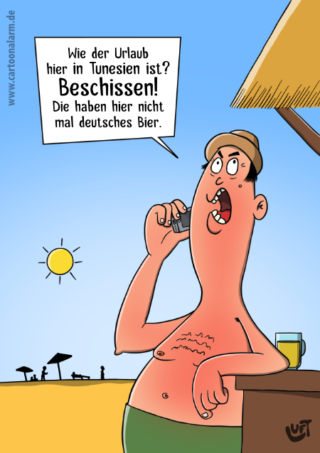 Thomas Luft, Cartoon, lustig, Urlaub