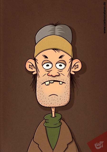 Thomas Luft, Karikatur, lustig