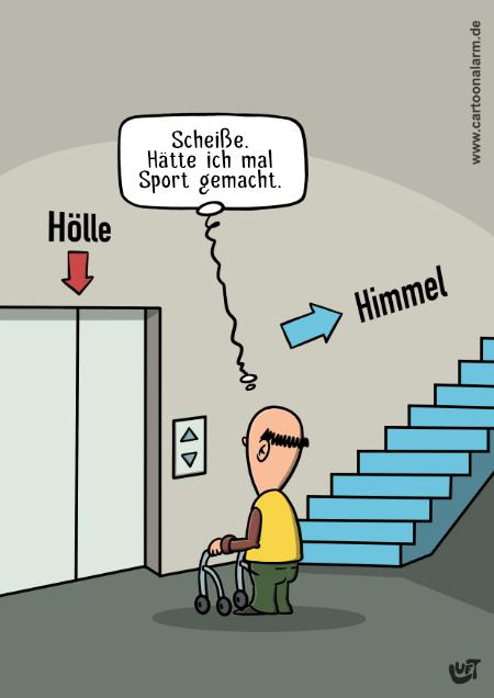 Cartoon von Thomas Luft zum Thema Sport