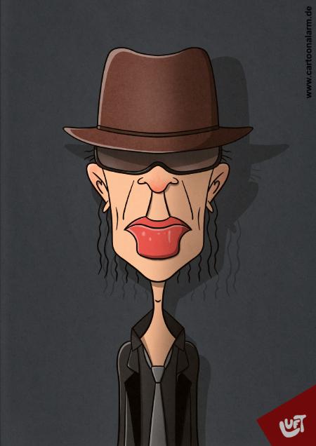 Karikatur von Udo Lindenberg, gezeichnet von Thomas Luft