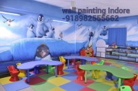 PLAY SCHOOL WALL PAINTING INDORE | school wall painting ...