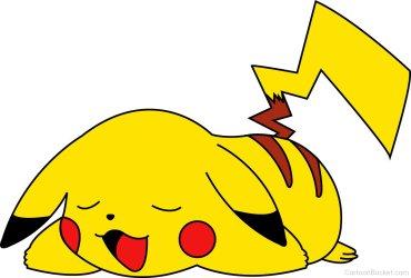 pikachu sleeping clipart cartoons desicomments cartoonbucket href src code embed