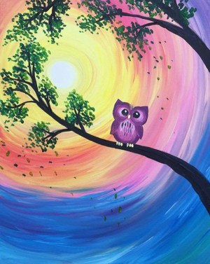acrylic easy painting paintings paint beginners nite owl simple canvas try party beginner events night paintnite host drawings bars local